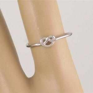 Tiny Heart Knot Ring